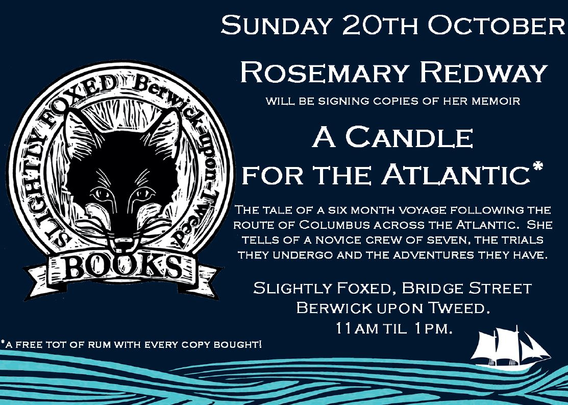 Rosemary Redway - A Candle for the Atlantic - Berwick Literary Festival