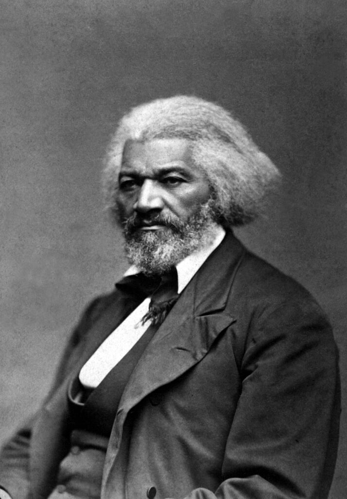 Frederick Douglass the black slave whose freedom was bought by to Quaker women from Newcastle.