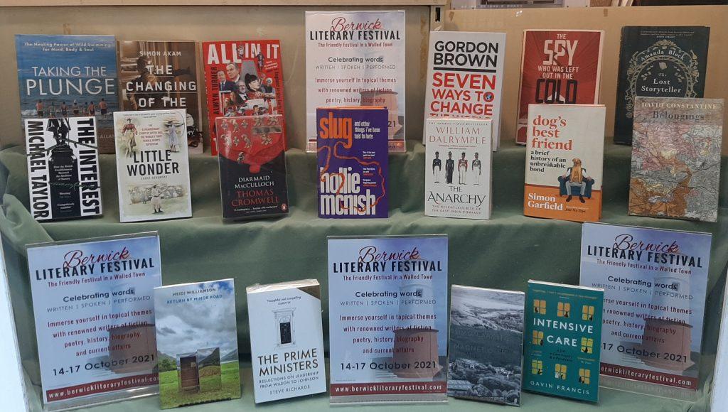 The work of some of Berwick Literary Festival speakers (October 14-17 2021)
