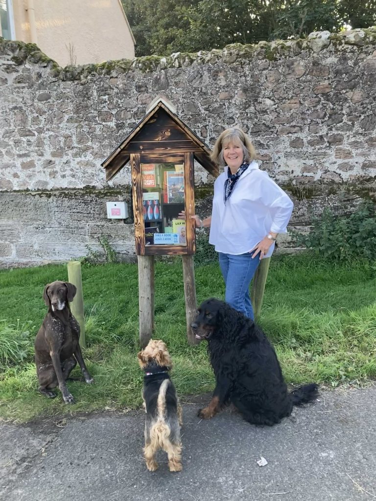 Berwick's own Little Free Library courtesy of Berwick Literary Festival and Books by the Sea